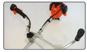 Motoguadaña Echo SRM 4605,manillar asimétrico y plegable