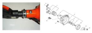 Podadora Echo PPT 266,amortiguador central