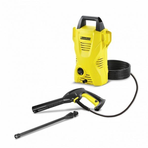 Hidrolavadora Karcher K 2 Basic - La hidrolavadora Karcher K 2 Basic es la solución perfecta para la limpieza de la suciedad liviana en el hogar, como muebles de jardín, bicicletas ,etc - La Quinta