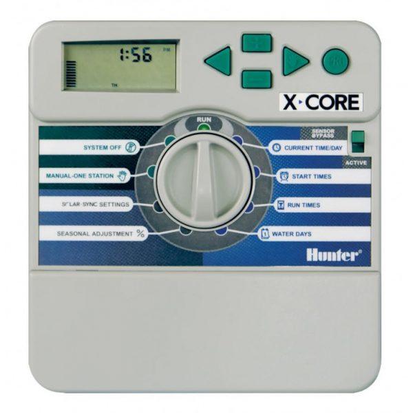 Programador XC-401-E Hunter - Programador para interiores de 4 estaciones 230 VCA con caja plastica - Programador para interiores de 4 estaciones 230 VCA con caja plastica - La Quinta