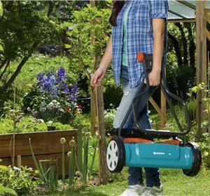 Cortacésped Manual Gardena 400,fácil de transportar