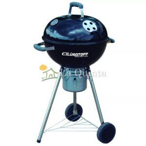 Parrilla Grill | Lusqtoff PAR-47N - Parrilla grill portátil con ruedas. Rejilla de cocina cromada de 44 cm - La Quinta